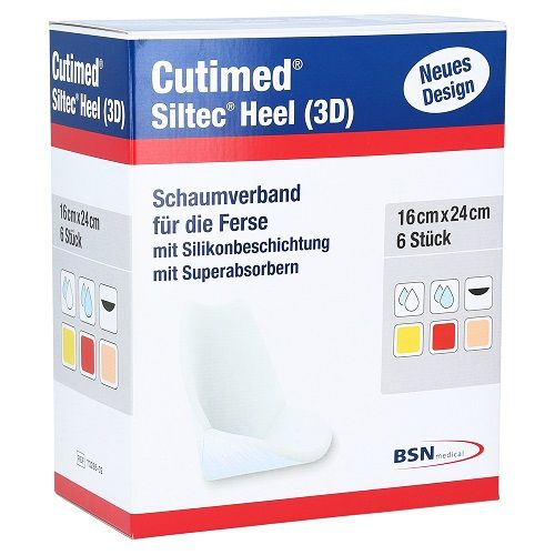 Cutimed® Siltec® Heel 3D